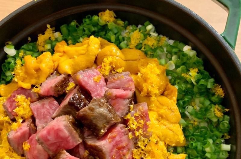 Uni Steak Pot Rice