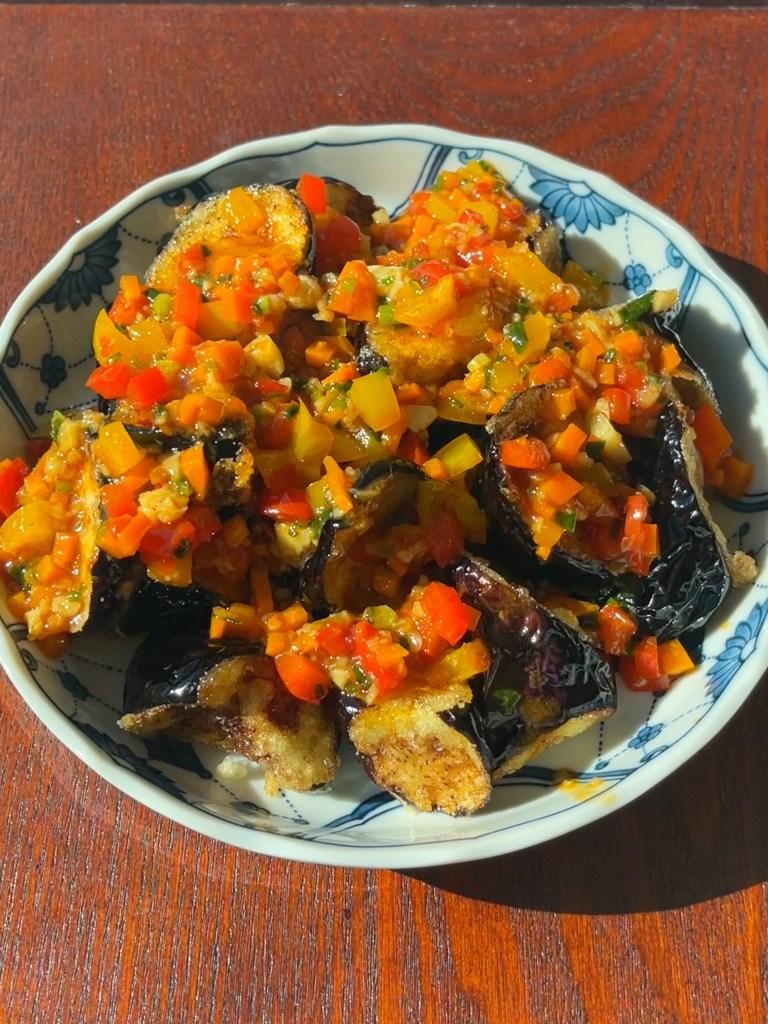 Fried Eggplants with Doubanjiang Sauce